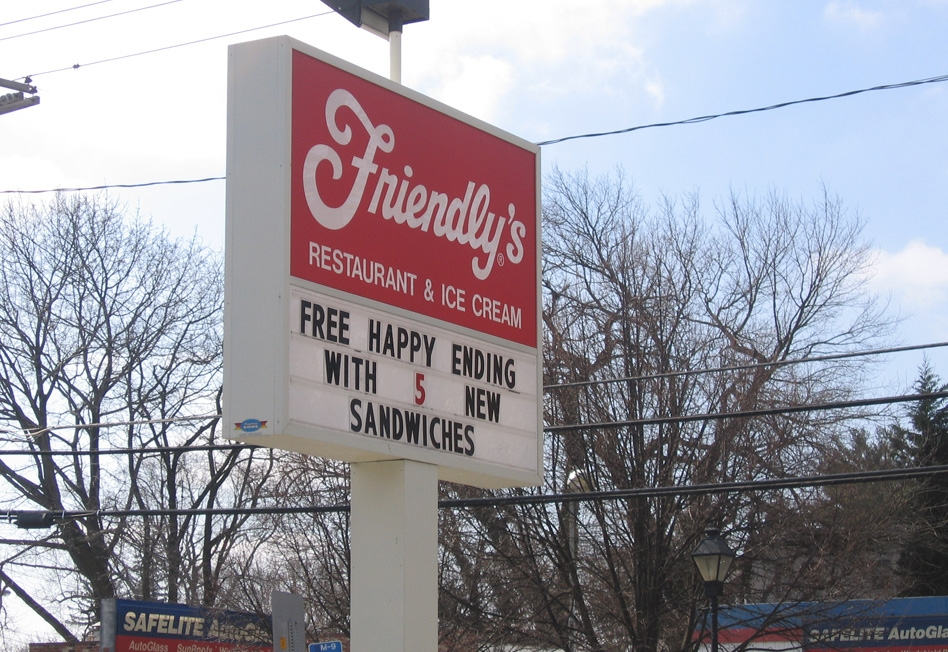 Friendly's Restaurant Offers Free Happy Ending