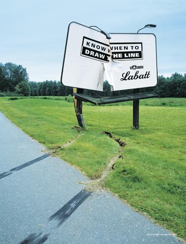 Labatt Crashes Billboard With Anti Drinking Message