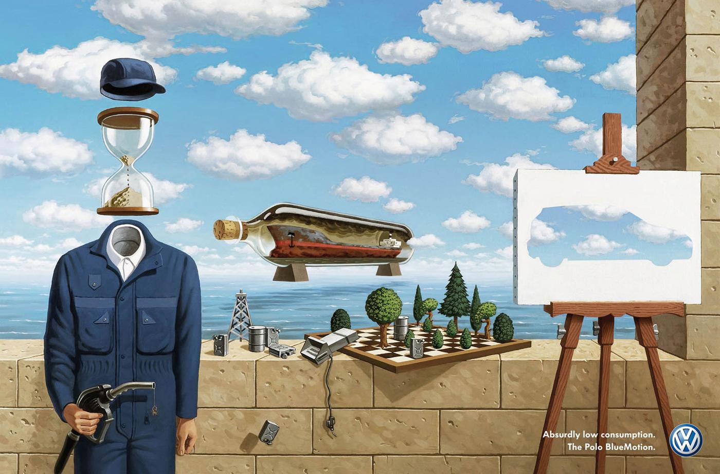 Vw 39 s 39 surrealism 39 touts absurdly low gas consumption - Les classiques du design ...